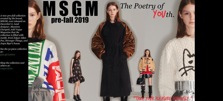 increíbles marcas de lujo MSGM collection