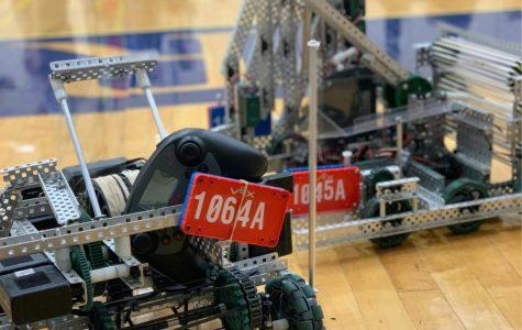 This is team 1064A's robot. Members of Team 1064A include Matt Nevarez, Joseph Perez, Kalvin Green and Noah Landis. Photo courtesy of Noah Landis