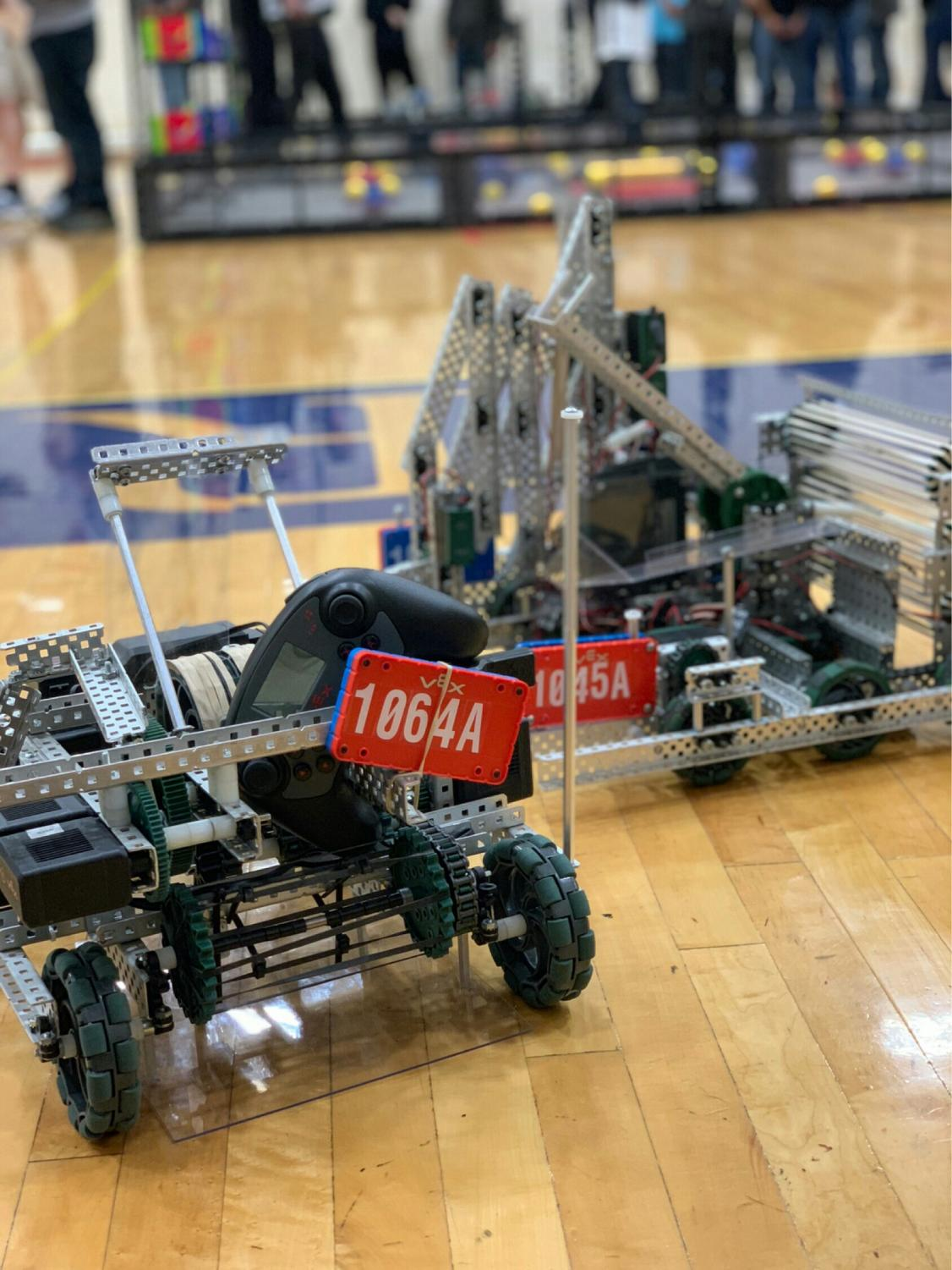 This is team 1064A's robot. Members of Team 1064A include Matt Nevarez, Joseph Perez, Kalvin Green and Noah Landis. Photo courtesy of Noah Landis