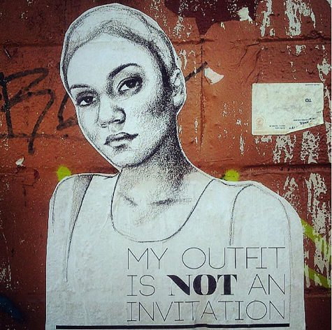 This is one example of Tatyana Fazlalizadeh's portraits that she wheat pastes around the world to send a message to street-harassers. Photo courtesy of Stop Telling Women to Smile (STWTS)